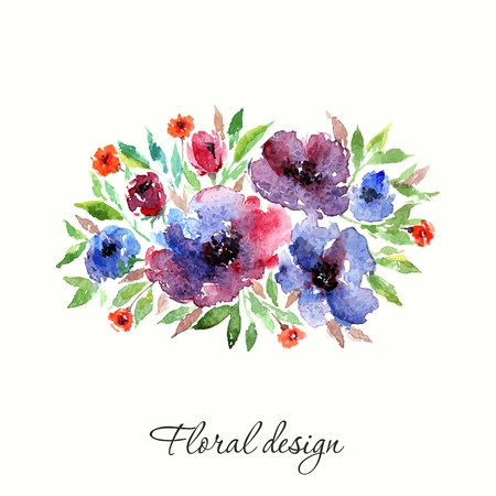 transparently: Flowers. Bouquet. Floral vintage background. Watercolor floral invitation. Birthday card.