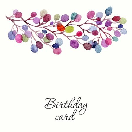 초대. 결혼식이나 생일 카드. 꽃 프레임. 꽃 수채화 배경입니다. 일러스트
