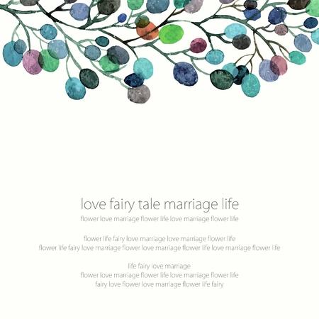 Invitation de mariage ou carte d'anniversaire. Floral frame. fond d'aquarelle avec des fleurs. Banque d'images - 36152304