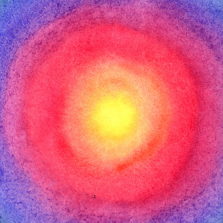 soft center: Watercolor background. Rainbow.
