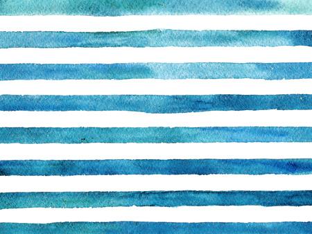 Vintage striped background. Watercolor style. 版權商用圖片 - 50790726