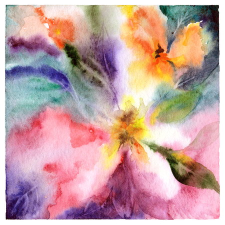 Abstract flowers. Abstract floral background