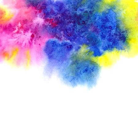 Watercolor background. Multicolor watercolor splash.