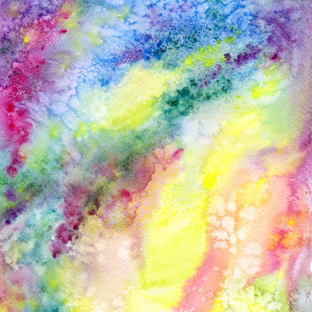 Multicolor abstract background. Watercolor art background with yellow, red, green, pink splashes. University art background. Wallart painting for home decor. Interior wallart. Stock fotó