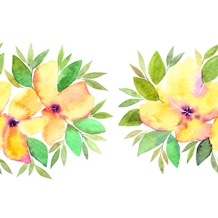 Seamless floral pattern. Floral yellow flowers.