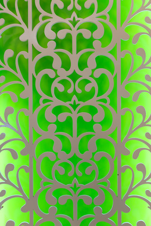 Green white perforated design photo