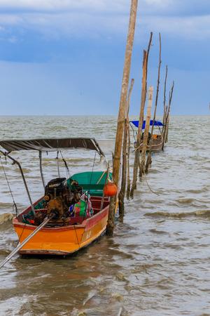 Long Tail Boat , Don Hoi Lot,  Samutsongkram in Thailand  photo