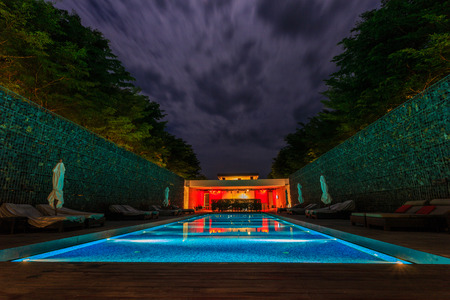 Night Pool in thailand
