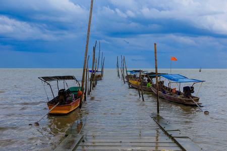 Long Tail Boat , Don Hoi Lot,  Samutsongkram in Thailand