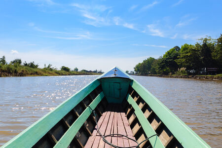 Long Tail Boat ,  inle lake in Myanmar  Burmar  Stock Photo - 29428804