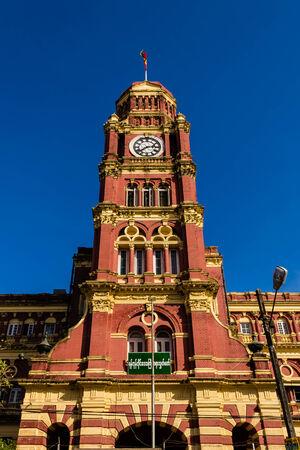 colonial building: Edificio colonial, Yangon en Myanmar Burmar