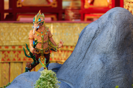 Himmapan creature at Royal Cremation Structure , Bangkok in Thailand Foto de archivo