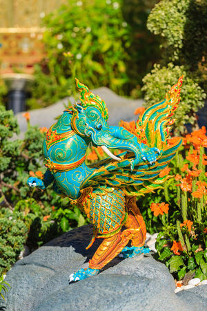 himmapan: Himmapan creature at Royal Cremation Structure in Bangkok, Thailand
