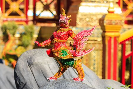 Himmapan creature at Royal Cremation Structure in Bangkok, Thailand