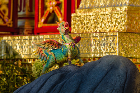 himmapan: Himmapan creature at Royal Cremation Structure , Bangkok in Thailand Stock Photo