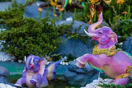 himmapan: Himmapan creature at Royal Cremation Structure , Bangkok in Thailand Stock Photo
