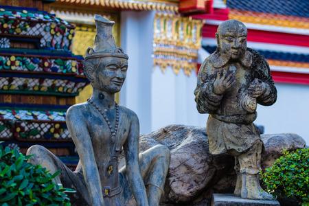Thai massage statue at Wat Pho in Bangkok , Thailand photo
