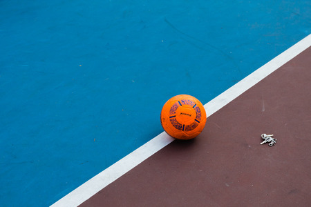kickoff: futsal , Bangkok in Thailand Stock Photo
