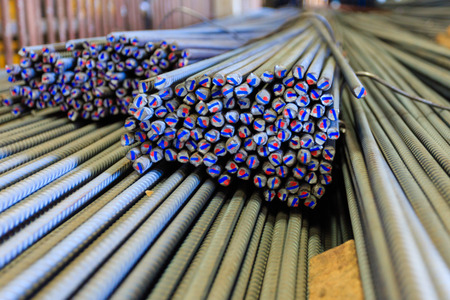 steel rod for construction , bangkok in Thailand photo