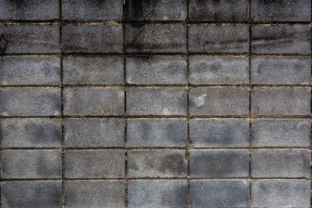 bloque de hormigon: Bloque de hormig�n sucio en la pared, Bangkok en Tailandia