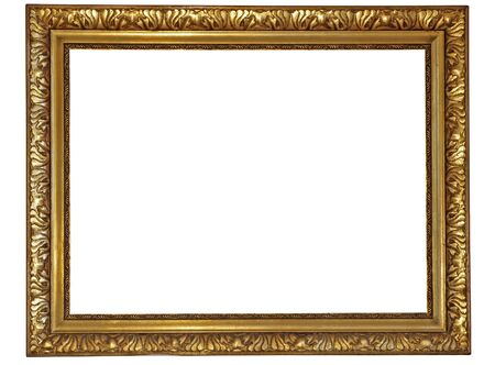 plated: Gold plated wooden picture frame