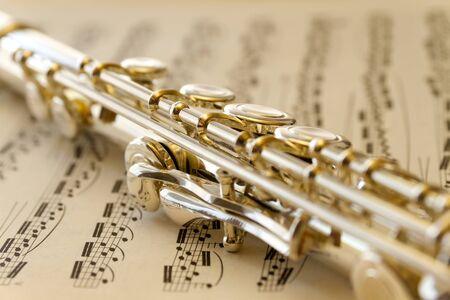 silver flute: Flute macro