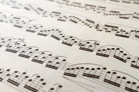 Musical sheet macro  Stock Photo - 17382900