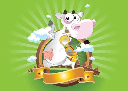 Crazy Cow Stock Vector - 15645111
