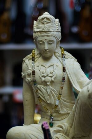 Statue of Rama, the hindu god, in a gift store, in Hawaii.