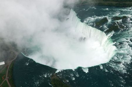 Niagara falls from a helicopter Stock Photo - 2538252