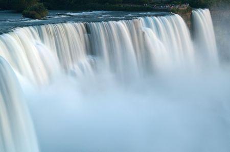 Niagara American falls in slow shutter speed