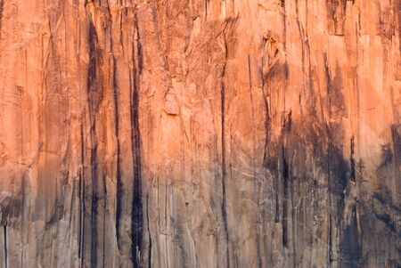 el capitan: The rock face of El Capitan during sunset, Yosemite National Park Stock Photo