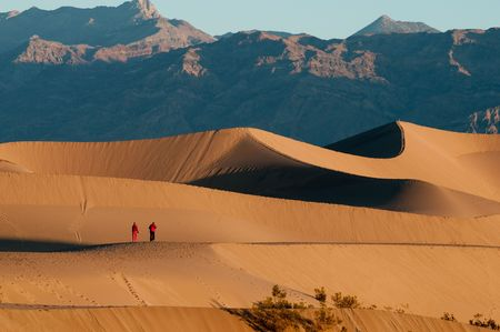 near death: This is the Mesquite Sand dunes in Death Valley National Park near Stovepipe Wells area.