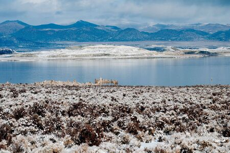 This is the mono lake South Tufa area in winter. Stock Photo - 6162994