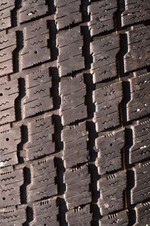 Old used black tyre macro photo photo