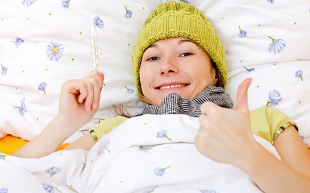 Young woman is feeling well from the medical treatment Stock Photo - 18570754