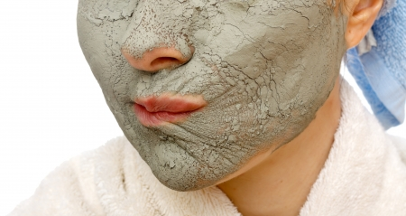 human skin texture: Skin firming facial mask for the beauty and healthy skin
