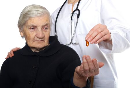 Mood disorder with negative affective symptoms in the case of an elderly woman Stock Photo - 18715138