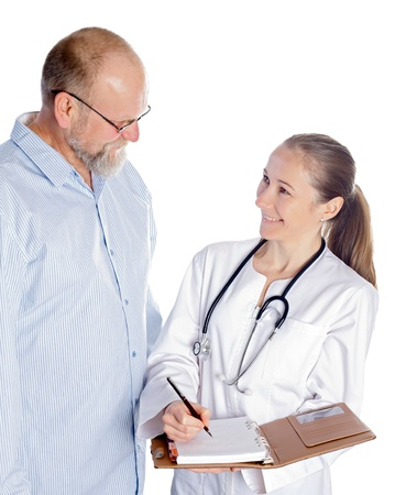 Discussion between doctor and patient for the next medical appointment photo