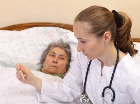 Body temperature measurement for monitoring whether a person is ill Stock Photo - 19340480