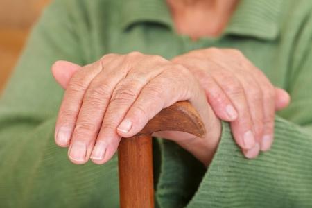 arthritic: Old woman