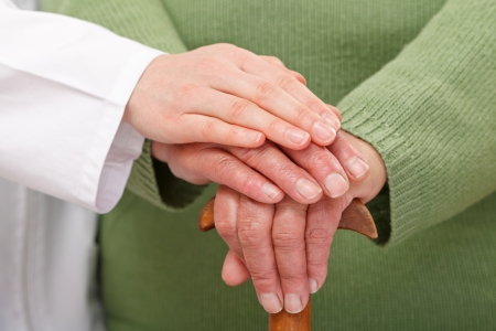 reassurance: How to give the best care in elderly homes Stock Photo