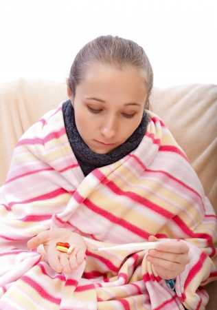 pharyngitis: Body temperature control before taking the medication