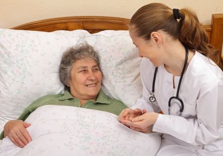 Quality of care for elderly  people living at home photo