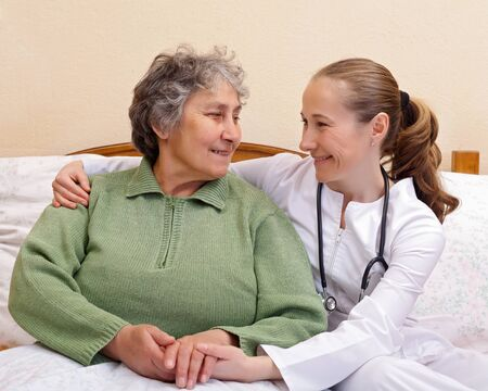 Qualitative of care for elderly  people living at home Stock Photo - 19666919