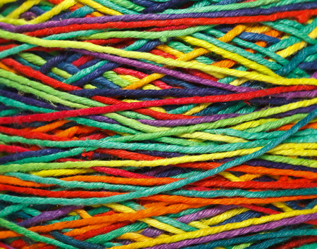 The multicolored yarn used for knitting clothes Stock Photo - 22665162