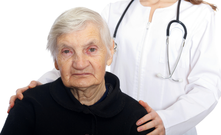 Mood disorder with negative affective symptoms in the case of an elderly woman Stock Photo - 22484431