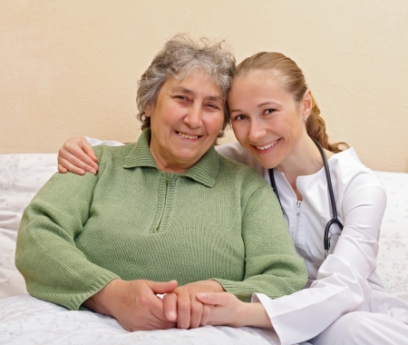 Qualitative of care for elderly  people living at home photo