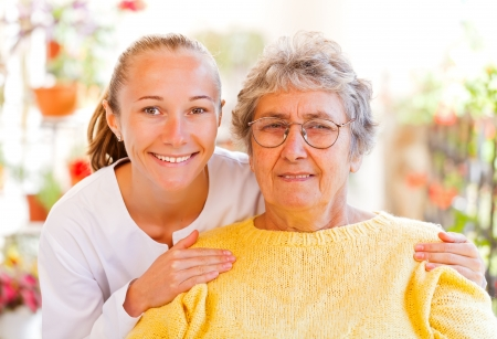 old people smiling: Find the right home care services for your loved