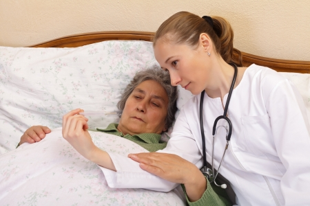 whether: Body temperature measurement for monitoring whether a person is ill